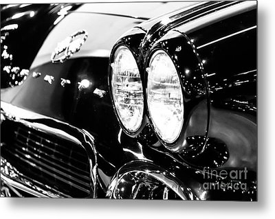 Corvette Picture - Black And White C1 First Generation Metal Print by Paul Velgos