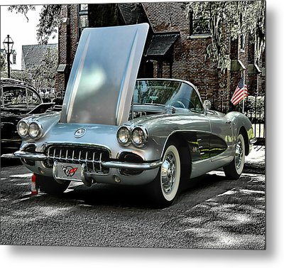Metal Print featuring the photograph Corvette by Victor Montgomery