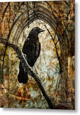 Corvid Arch Metal Print by Judy Wood