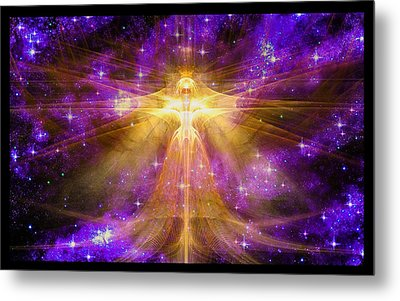 Metal Print featuring the digital art Cosmic Angel by Shawn Dall