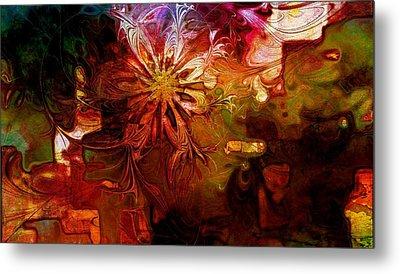 Cosmic Bloom Metal Print by Amanda Moore