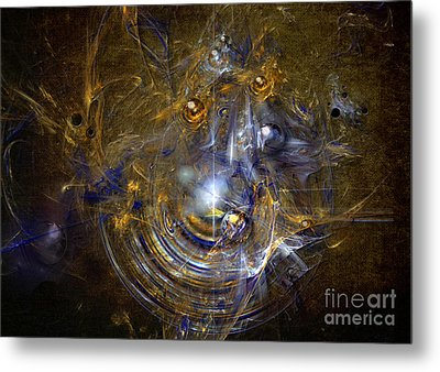 Metal Print featuring the painting Cosmic Bubbles by Alexa Szlavics