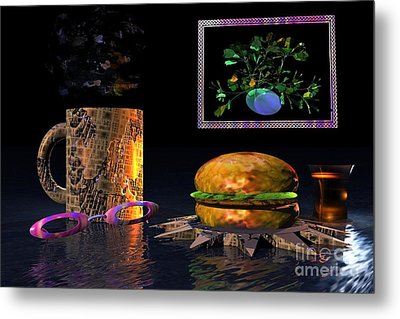 Cosmic Burger Metal Print