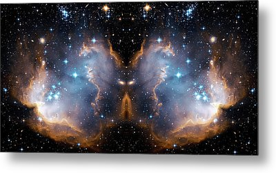 Cosmic Butterfly Metal Print by Jennifer Rondinelli Reilly - Fine Art Photography