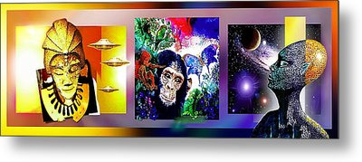 Cosmic Citizen Metal Print by Hartmut Jager