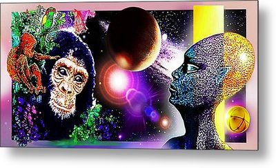 Cosmic Connected Citizens  Metal Print by Hartmut Jager