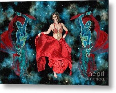 Cosmic Dance Metal Print by Ursula Freer