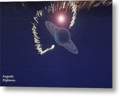 Cosmic Event Metal Print by Augusta Stylianou