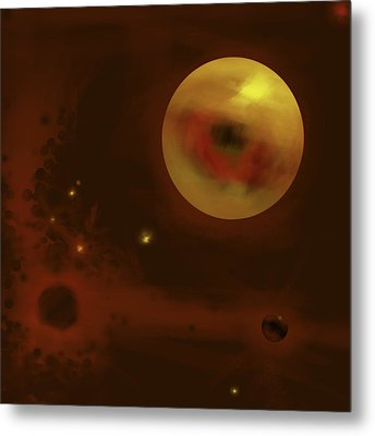 Cosmic Eye Metal Print