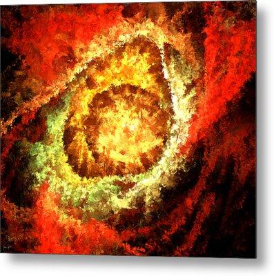 Cosmic Flares Metal Print by Lourry Legarde