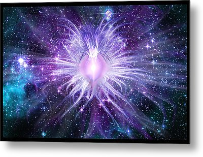 Metal Print featuring the digital art Cosmic Heart Of The Universe by Shawn Dall