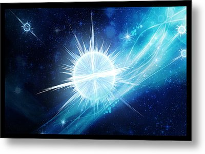 Metal Print featuring the digital art Cosmic Icestream by Shawn Dall