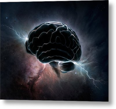 Cosmic Intelligence Metal Print by Johan Swanepoel