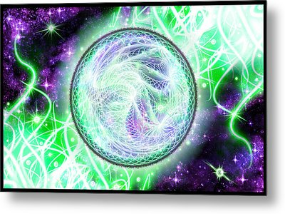 Metal Print featuring the digital art Cosmic Lifestream by Shawn Dall