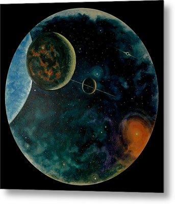 Cosmic Light Metal Print by Len Sodenkamp