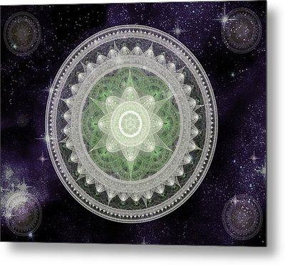 Cosmic Medallions Earth Metal Print