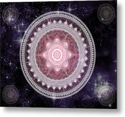 Cosmic Medallions Fire Metal Print by Shawn Dall