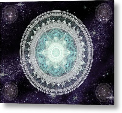 Cosmic Medallions Water Metal Print by Shawn Dall