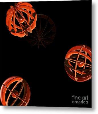 Cosmic Pumpkins By Jammer Metal Print by First Star Art
