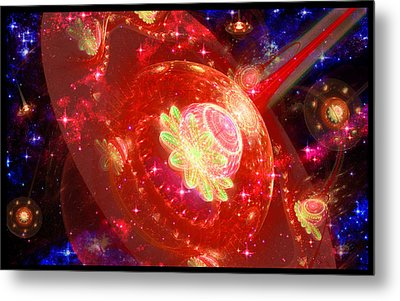 Cosmic Space Station 2 Metal Print
