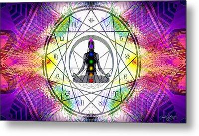 Cosmic Spiral Ascension 14 Metal Print by Derek Gedney