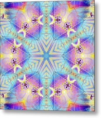 Cosmic Spiral Kaleidoscope 17 Metal Print