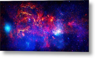 Cosmic Storm In The Milky Way Metal Print by Celestial Images