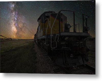 Cosmic Train Metal Print by Aaron J Groen