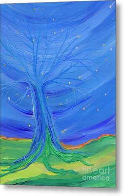 Metal Print featuring the painting Cosmic Tree by First Star Art