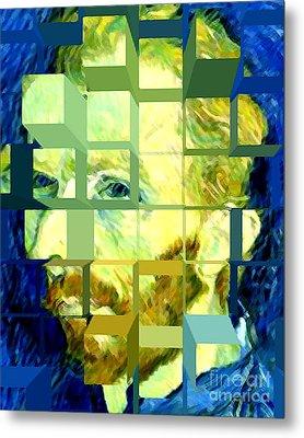 Cosmic Van Gogh Portrait Metal Print by Jerome Stumphauzer