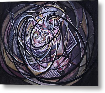 Cosmic Worm Hole Metal Print by Safir  Rifas