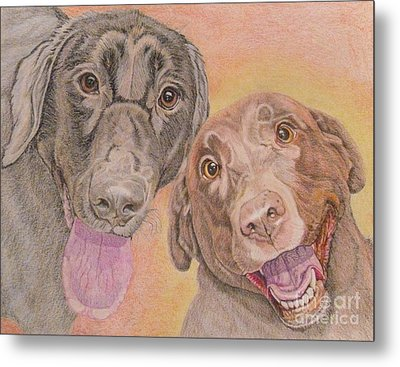Cosmo And Lucy Metal Print by Audrey Van Tassell