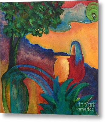 Metal Print featuring the painting Costa Mango II by Elizabeth Fontaine-Barr