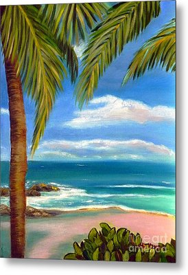 Metal Print featuring the painting Costa Rica Rocks   Costa Rica Seascape  by Shelia Kempf