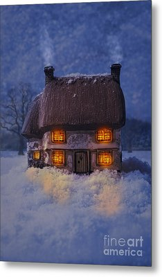 Cosy Country Cottage Metal Print