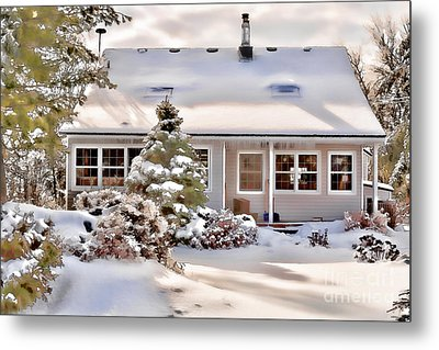 Cosy In Winter Metal Print by Louise Heusinkveld