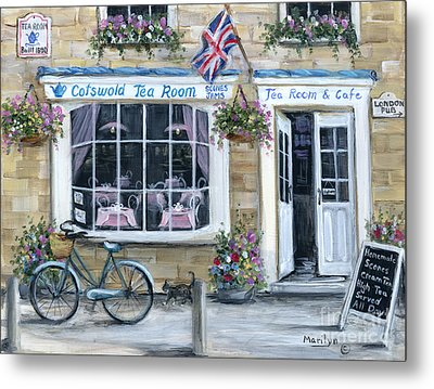 Cotswold Tea Room Metal Print