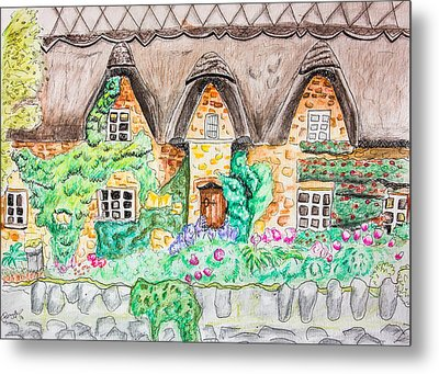 Cottage Front Metal Print