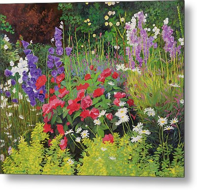 Cottage Garden Metal Print by William Ireland