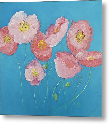 Cottage Garden Poppies Metal Print