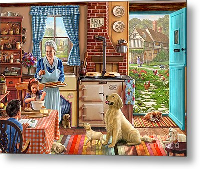Cottage Interior Metal Print by Steve Crisp