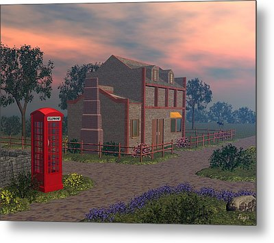Cottage Lane Metal Print