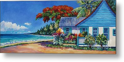 Cottage On 7-mile Beach Metal Print by John Clark
