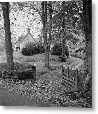 Metal Print featuring the photograph Cottage On Loch Ness - Scotland 1972 - Travel Photography By David Perry Lawrence by David Perry Lawrence