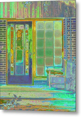 Cottage Porch Metal Print