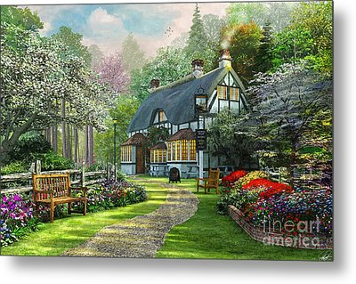 Cottage Pub Metal Print by Dominic Davison