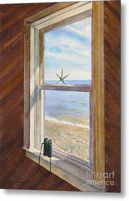 Cottage Window Metal Print by Karol Wyckoff