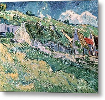 Cottages At Auvers Sur Oise Metal Print by Vincent Van Gogh