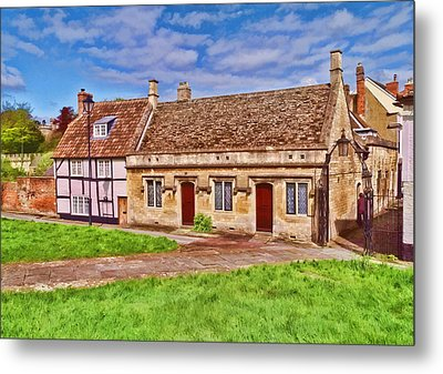 Metal Print featuring the photograph Cottages Devizes -2 by Paul Gulliver