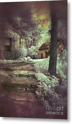 Cottages In The Woods Metal Print by Jill Battaglia